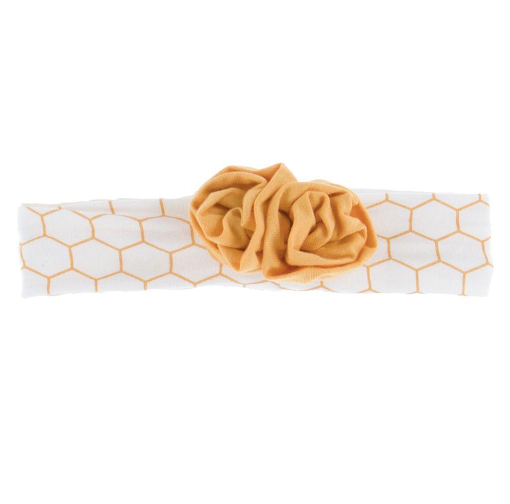 Kickee Pants Print Flower Headband (Natural Honeycomb - One Size)