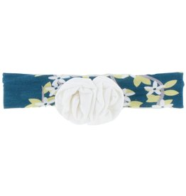 Kickee Pants Print Flower Headband (Peacock Tree Conopy - One Size)