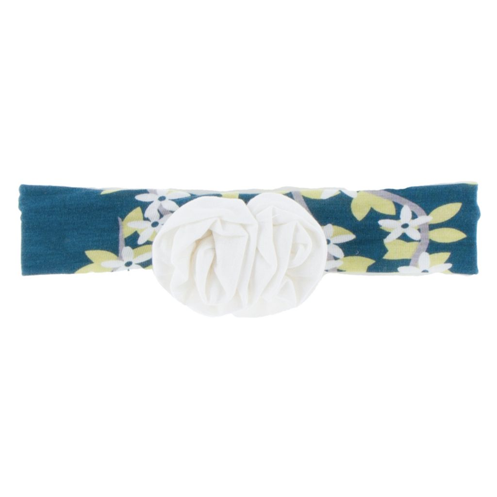 Kickee Pants Print Flower Headband (Peacock Tree Conopy - One Size)