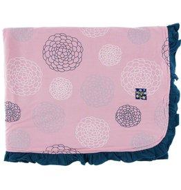 Kickee Pants Print Ruffle Toddler Blanket (Lotus Blooms - One Size)