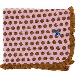 Kickee Pants Print Ruffle Toddler Blanket (Lotus Cookies - One Size)