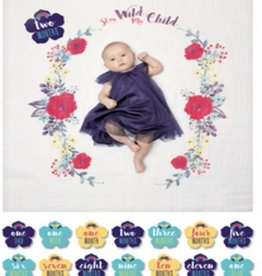 MARY MEYER Baby's First Year Blanket & Cards Set - Stay Wild My Child