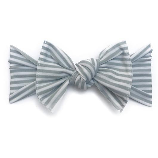 Baby Bling Printed Knot (Grey Mini Stripe)