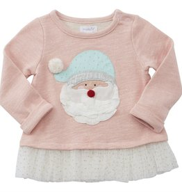 Mud Pie SANTA TUTU SWEATSHIRT