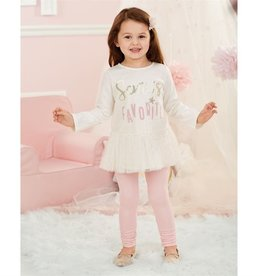 Mud Pie SANTA'S FAVORITE DAZZLE TUNIC & LEGGING SET