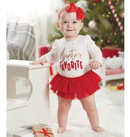 Mud Pie SANTA'S FAVORITE TUTU CRAWLER