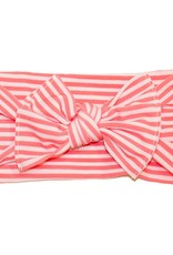 Baby Bling Printed Knot (Coral Mini Stripe)