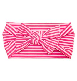 Baby Bling Printed Knot (Hot Pink Mini Stripe)