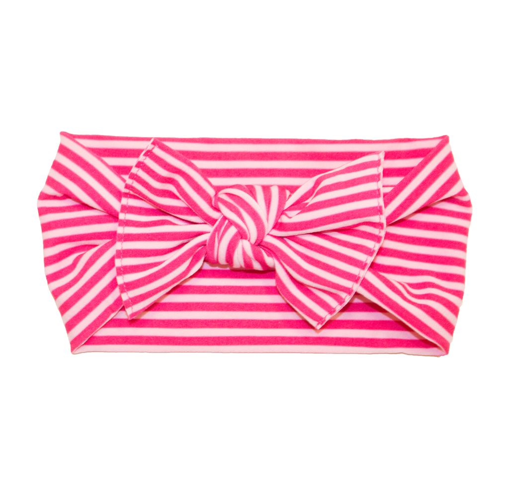 Baby Bling Printed Knot (Hot Pink Mini Stripe)
