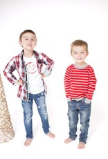 ANDY & EVAN XMAS PLAID.LS.6Y