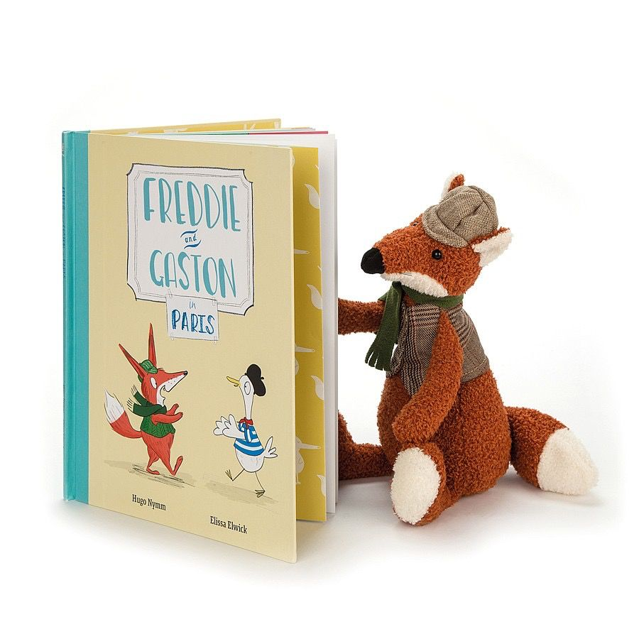 JellyCat Freddie and Gaston in Paris Book