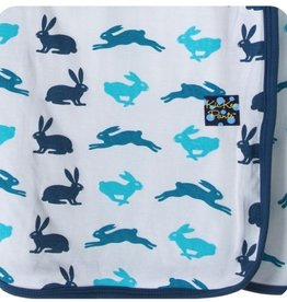 Kickee Pants Boy Natural Hare Swaddle