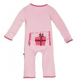 Kickee Pants Present Fitted Applique Coverall