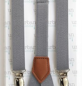 URBAN SUNDAY Solid Grey Suspenders.2-8Y