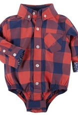 ANDY & EVAN BUFFALO CHECK SHIRTZIE.RED.18M
