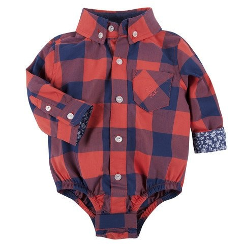 ANDY & EVAN BUFFALO CHECK SHIRTZIE.RED.24M