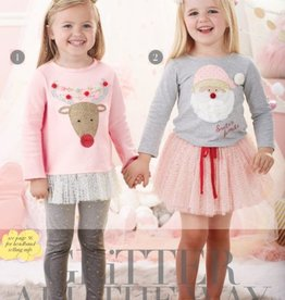 Mud Pie SANTA SKIRT SET