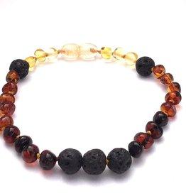 Momma Goose Rainbow Lava Essential Oil Diffuser Bracelet