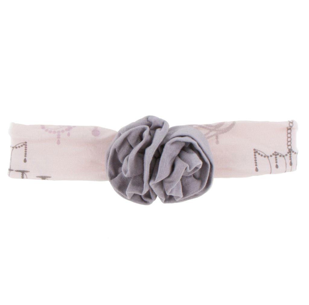 Kickee Pants Print Flower Headband (Macaroon Chandelier)