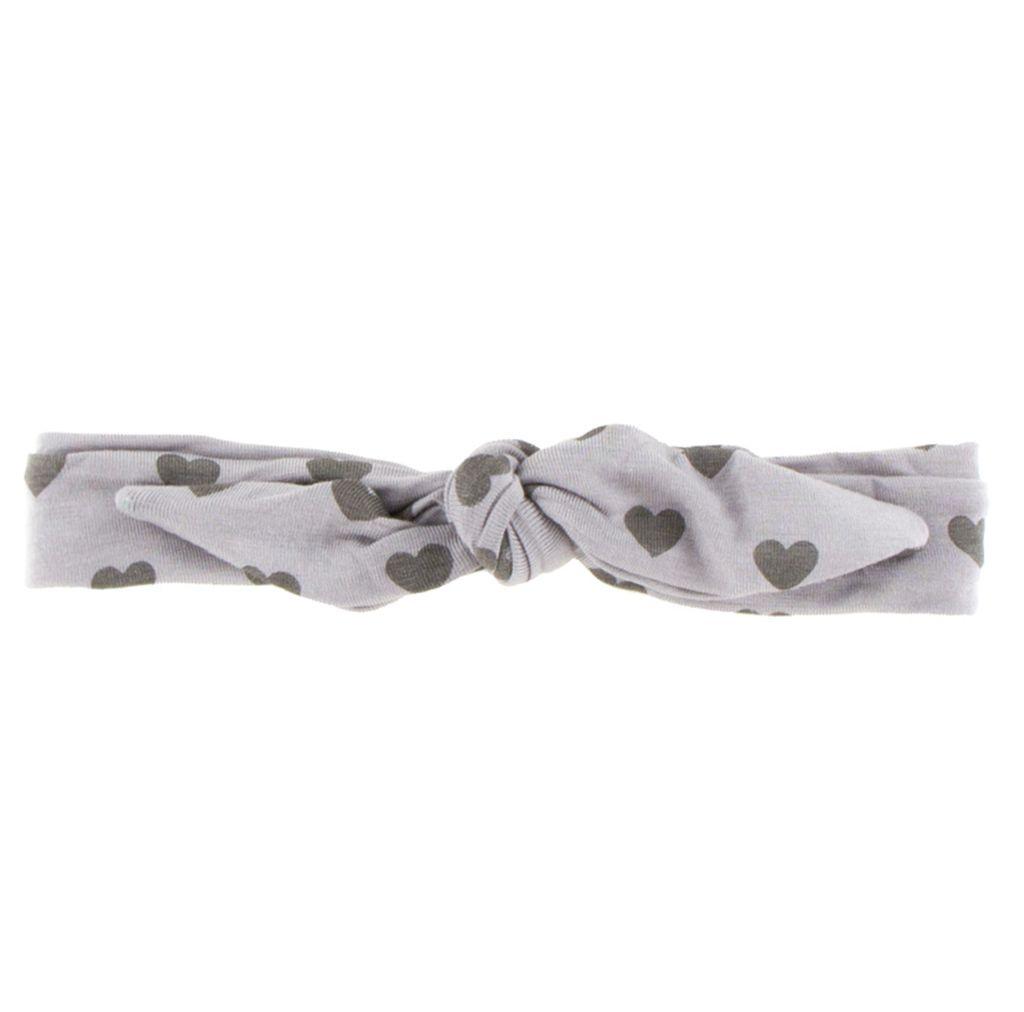 Kickee Pants Print Bow Headband (Feather Hearts