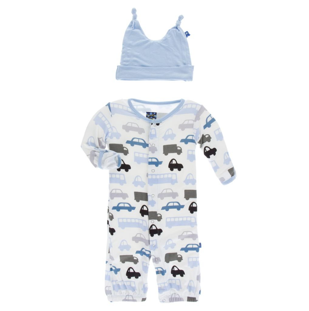 Kickee Pants Layette Gown Converter & Knot Hat Set