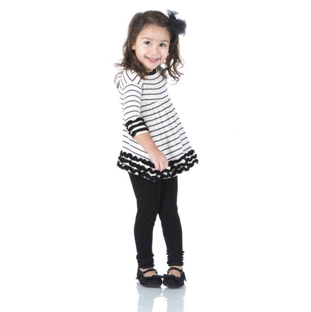 Kickee Pants Long Sleeve Babydoll Outfit Set
