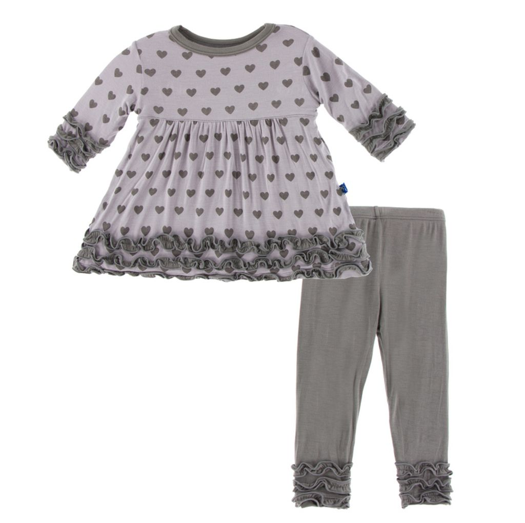 Kickee Pants Long Sleeve Babydoll Outfit Set