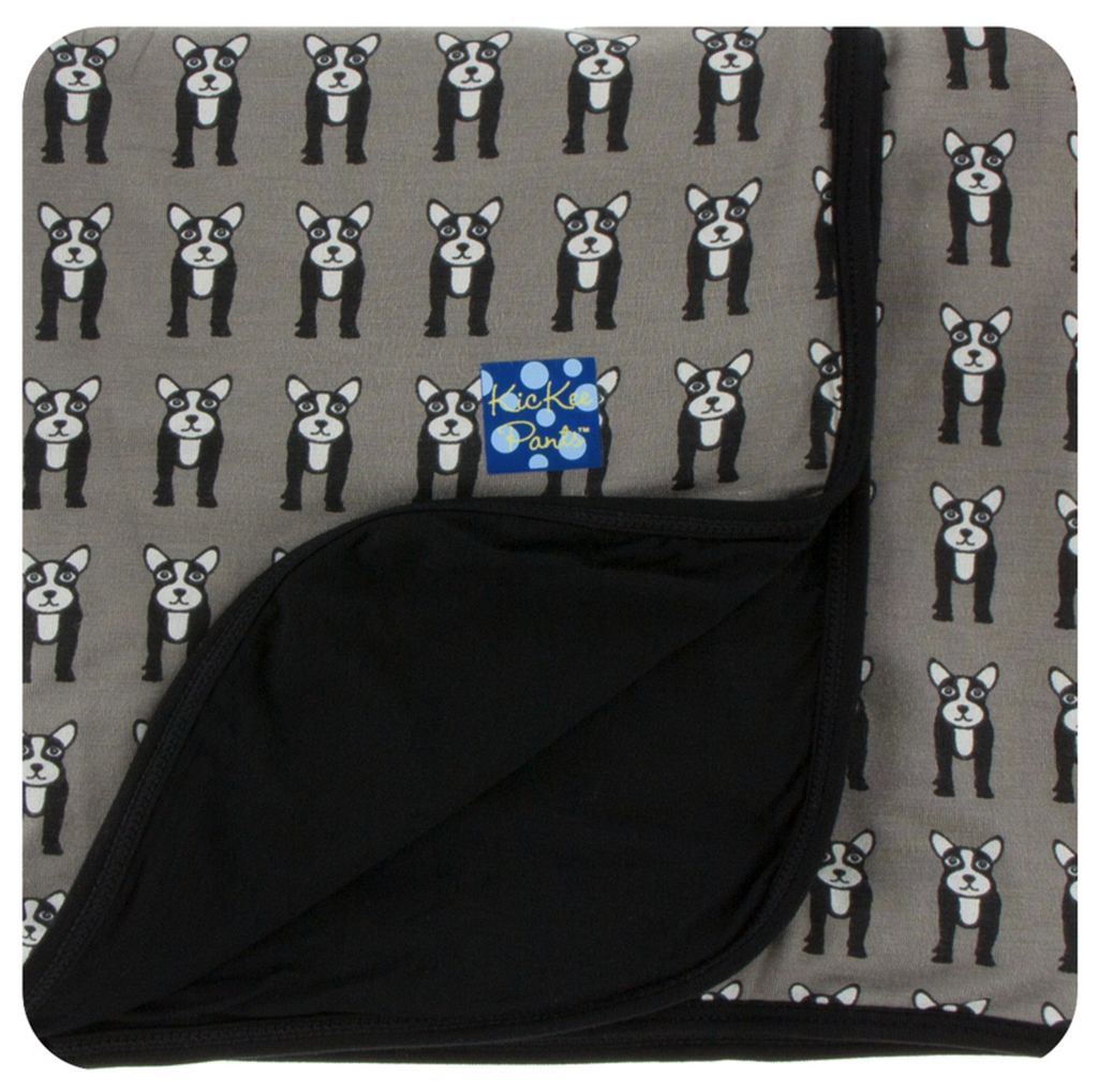 Kickee Pants Print Stroller Blanket (French Bulldog - One Size)