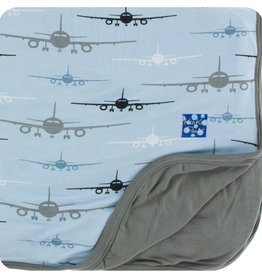 Kickee Pants Print Toddler Blanket (Pond Airplanes - One Size)