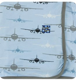 Kickee Pants Print Swaddling Blanket Pond Airplanes
