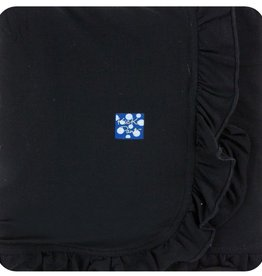 Kickee Pants Basic Ruffle Stroller Blanket (Midnight - One Size)
