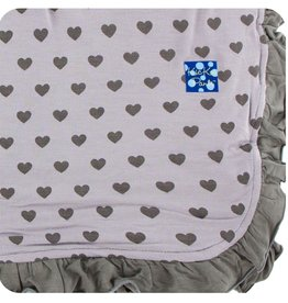 Kickee Pants Print Ruffle Toddler Blanket (Feather Hearts - One Size)