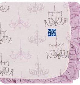 Kickee Pants Print Ruffle Toddler Blanket (Macaroon Chandelier - One Size)