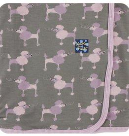 Kickee Pants Print Swaddling Blanket Cobblestone Poodle