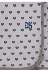 Kickee Pants Print Swaddling Blanket Feather Hearts