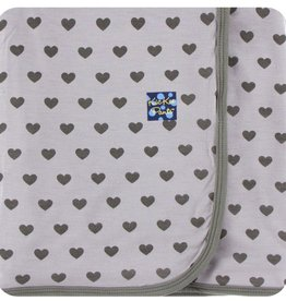 Kickee Pants Print Swaddling Blanket Feather Hearts