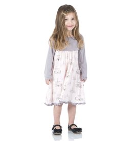 Kickee Pants Print Classic Long Sleeve Swing Dress