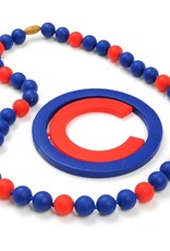 CHEWBEADS MLB GAMEDAY NECKLACE.CHICAGO CUBS