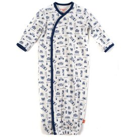 Magnificent Baby Blueprint Magnetic Gown.NB-3M