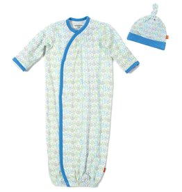 Magnificent Baby Robots Modal Magnetic Gown Set.NB-3M