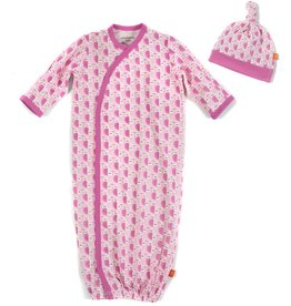 Magnificent Baby Mod Owls Modal Magnetic Gown Set.NB-3M