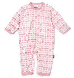 Magnificent Baby Pink Dancing Elephants Modal Magnetic Coverall