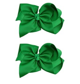 juDanzy Classic Extra Large Bow.Green.5""