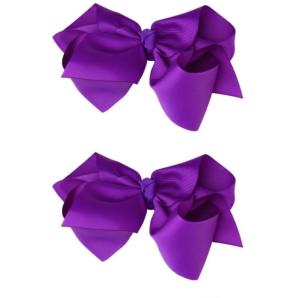 "juDanzy Classic Extra Large Bow.Purple.5"""