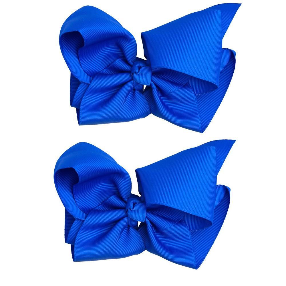 juDanzy Classic Extra Large Bow.Blue.5""
