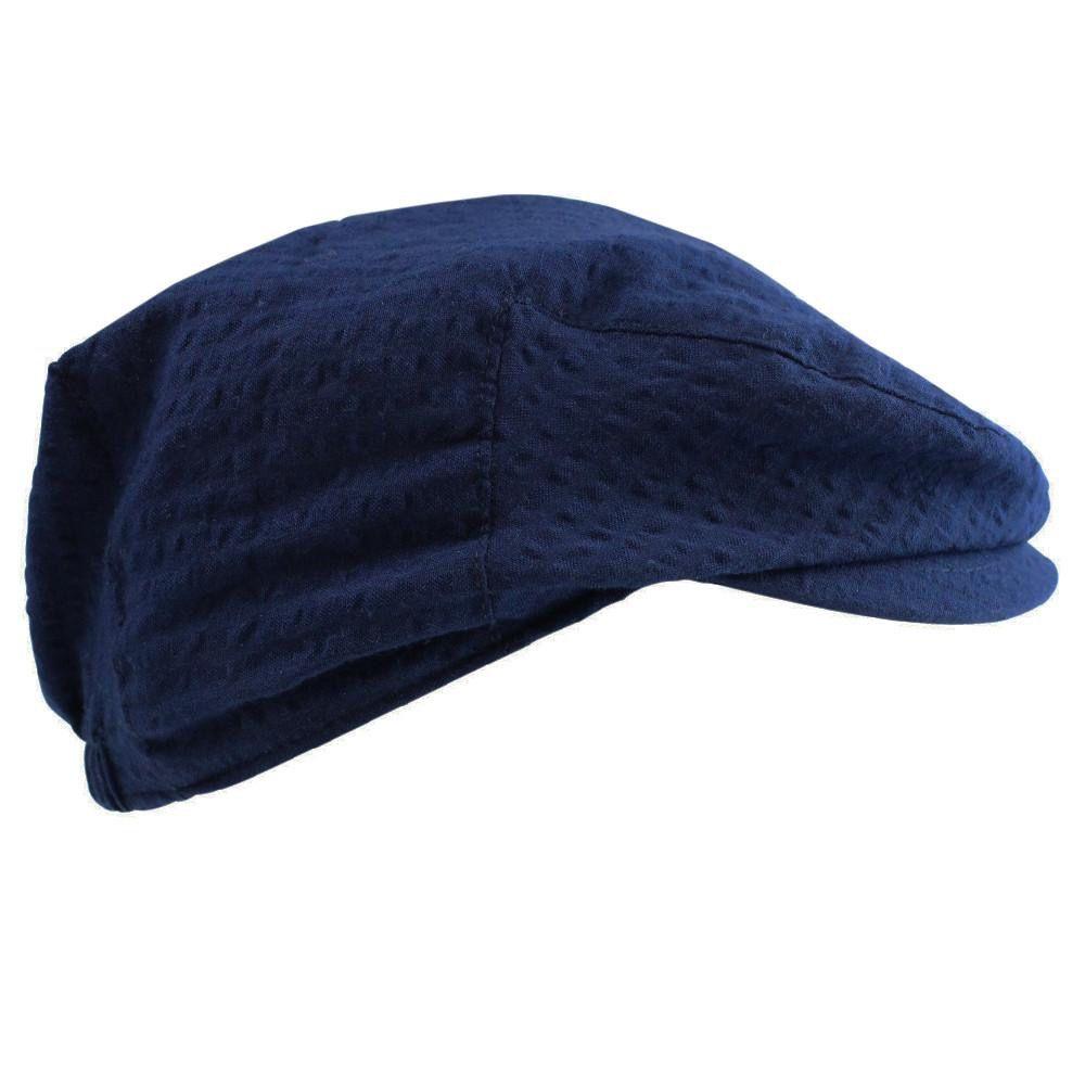 juDanzy Blue Seersucker Cabbie Hat
