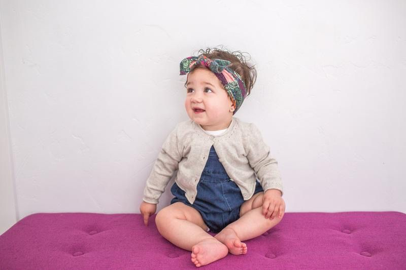 Baby Bling Printed Knot (Veggie Floral)