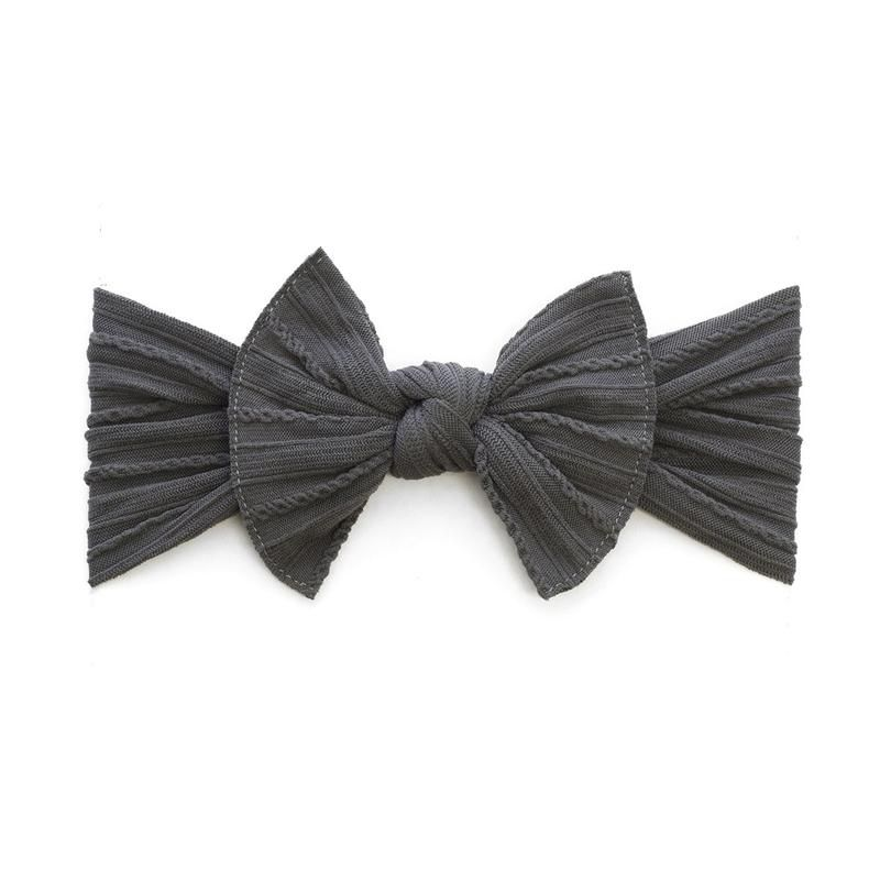 Baby Bling Cable Knit Knot (Charcoal)