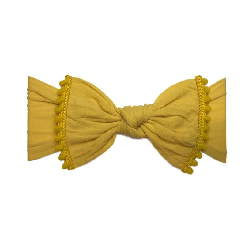 Baby Bling Trimmed Classic Knot (Mustard)