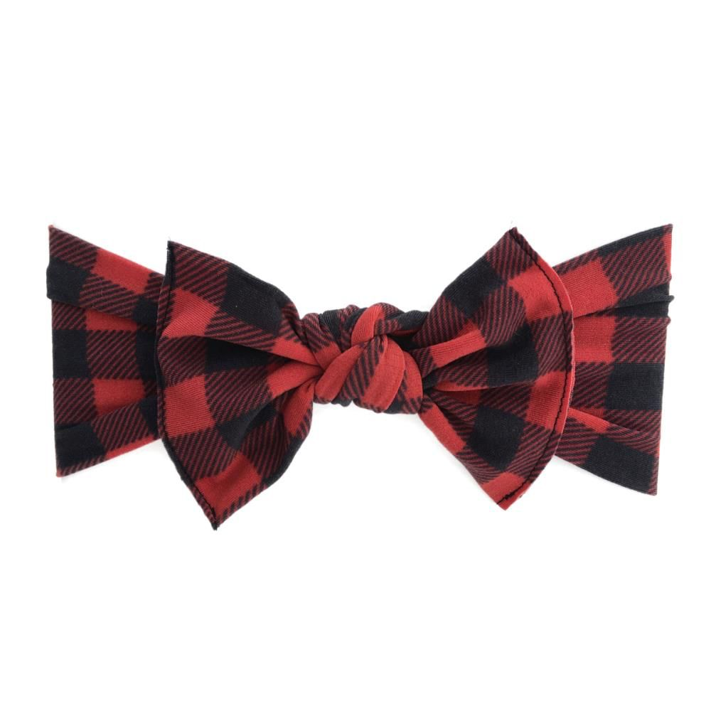 Baby Bling Printed Knot (Red/Black Buffalo Plaid)